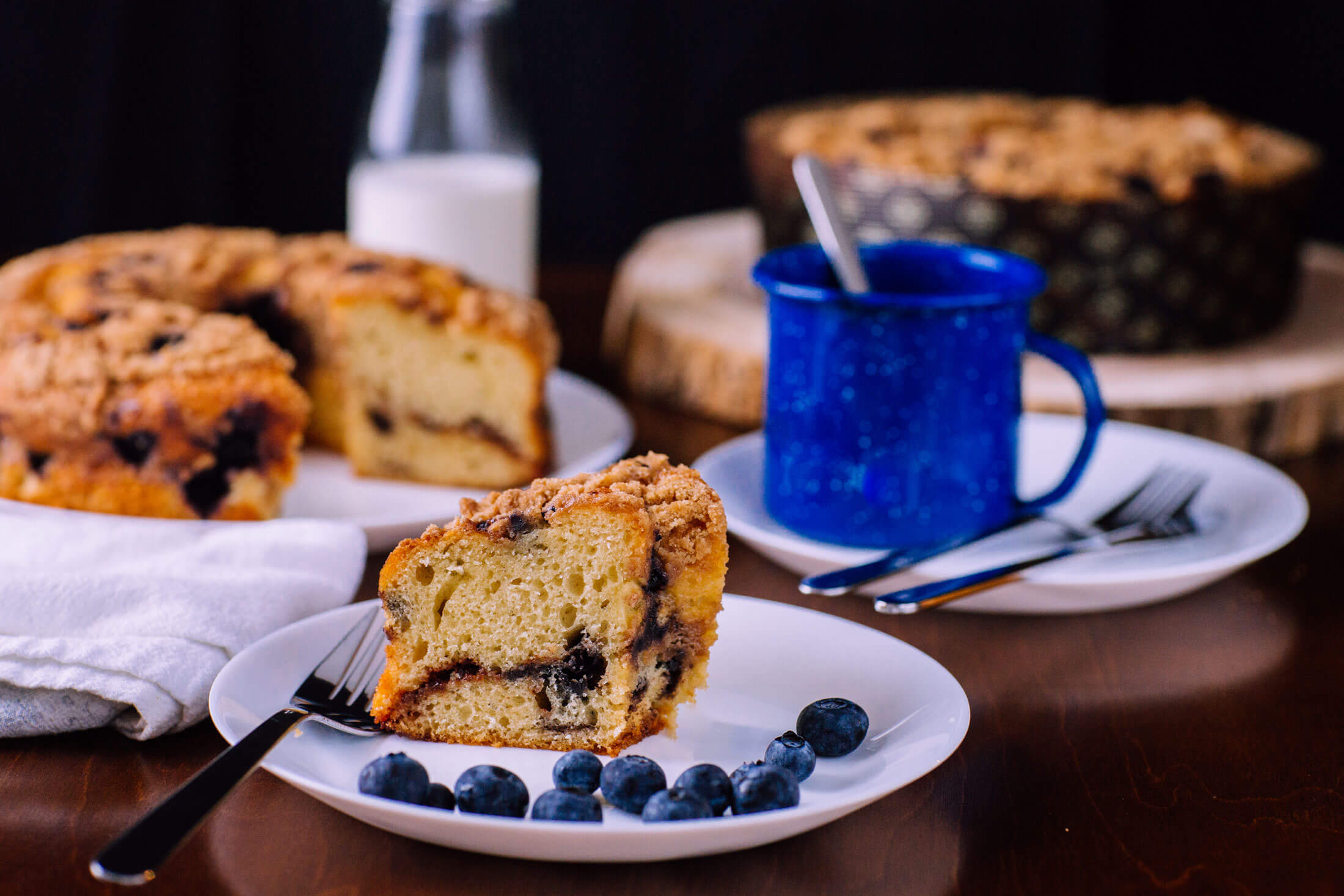 Boston Baking Blueberry Coffee Cake