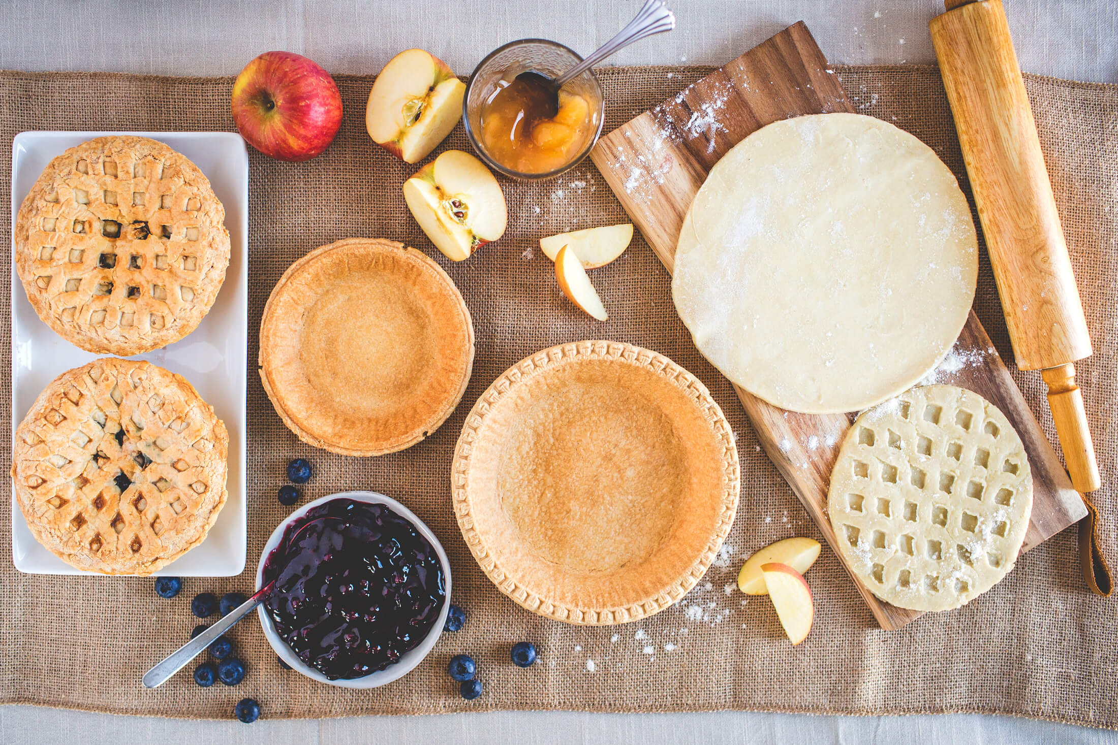 Boston Baking Pie Shells with Ingredients