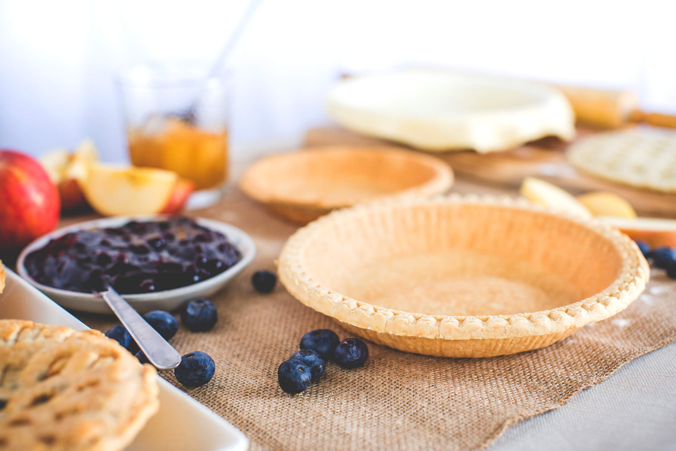 Boston Baking Pie Shells and Ingredients
